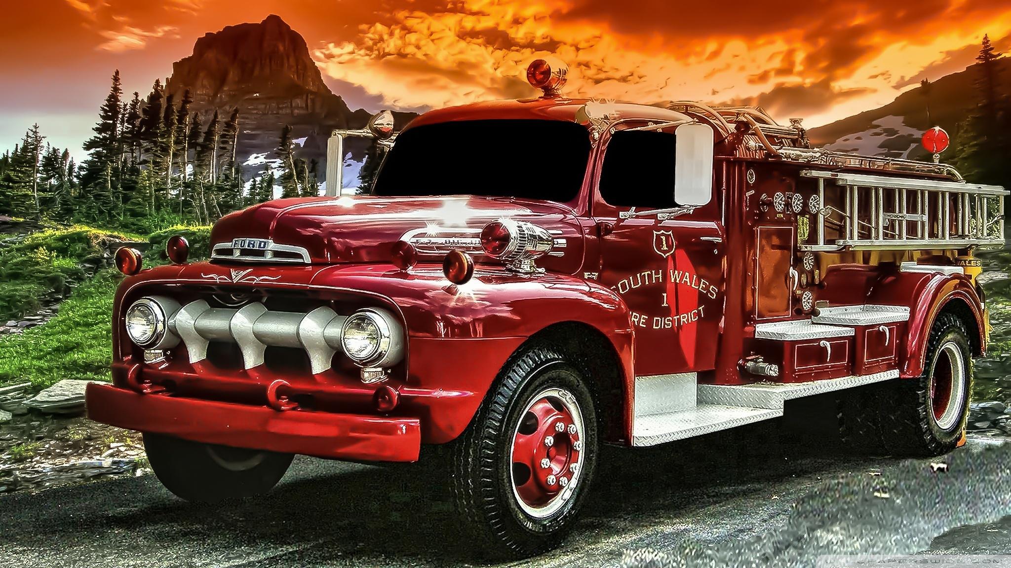 old fire truck ❤ 4k hd desktop wallpaper for 4k ultra hd tv