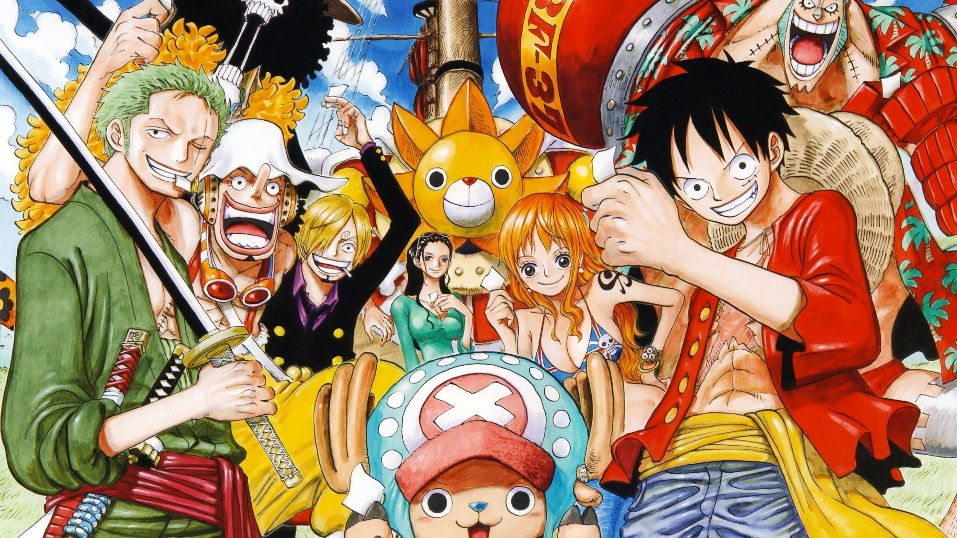 one piece mugiwaras full hd wallpaper and background image