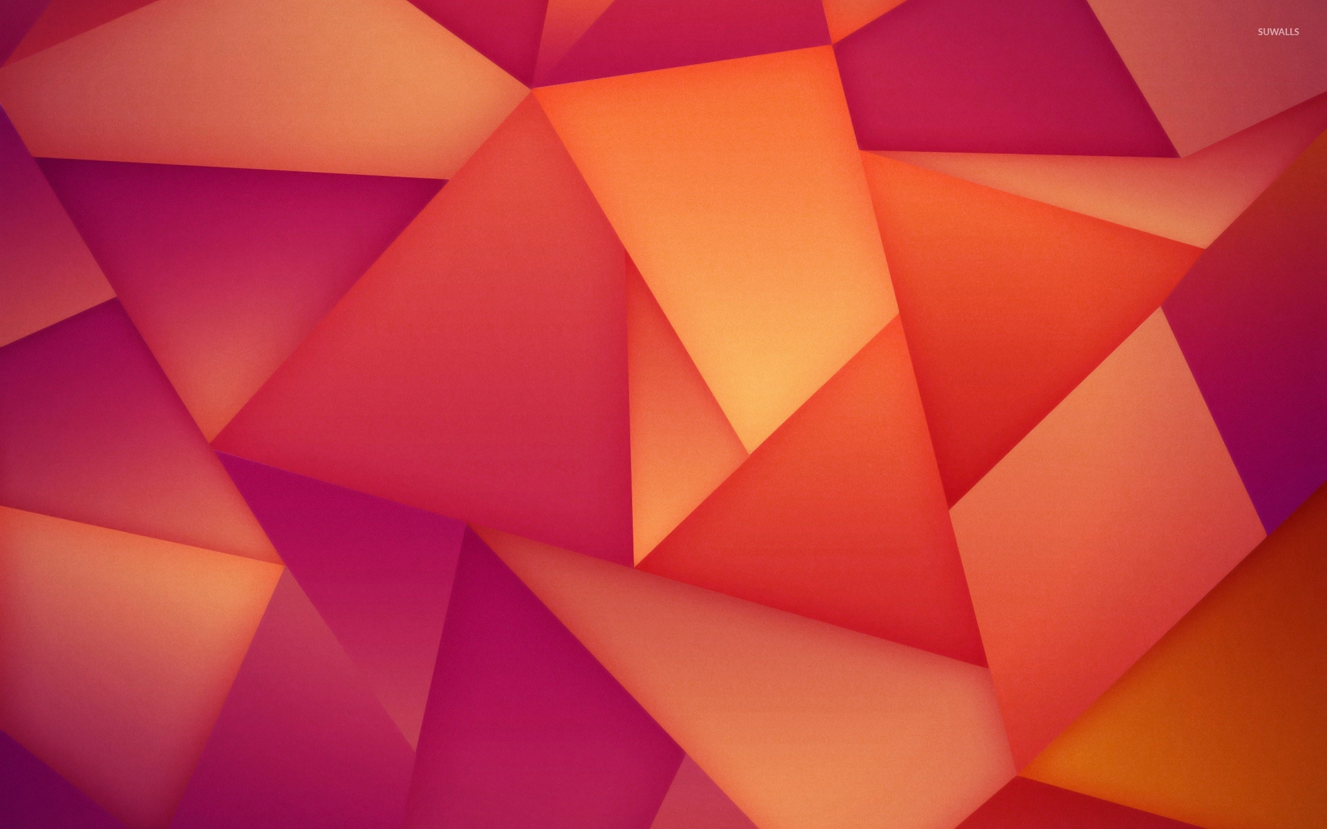 orange and purple polygons wallpaper - abstract wallpapers - #25819