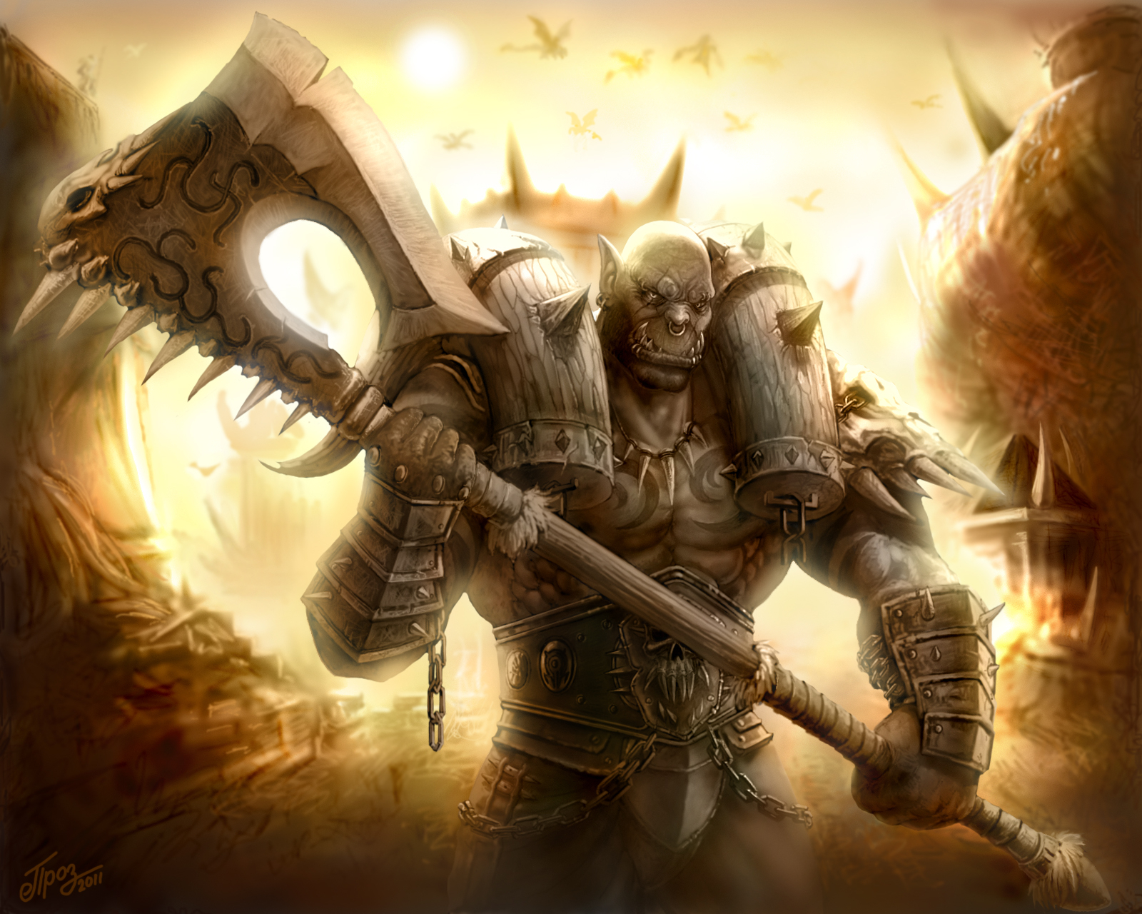 orc warrior wallpaper and hintergrund | 1600x1280 | id:510671