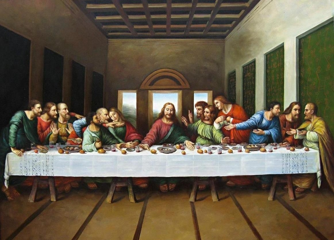 "original picture of the last supper""leonardo da vinci 