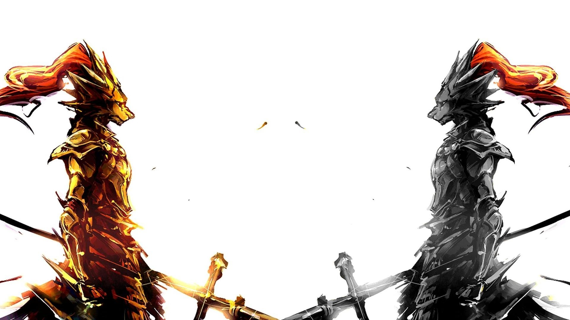 ornstein and the old dragonslayer dual-screen wallpaper [3840x1080