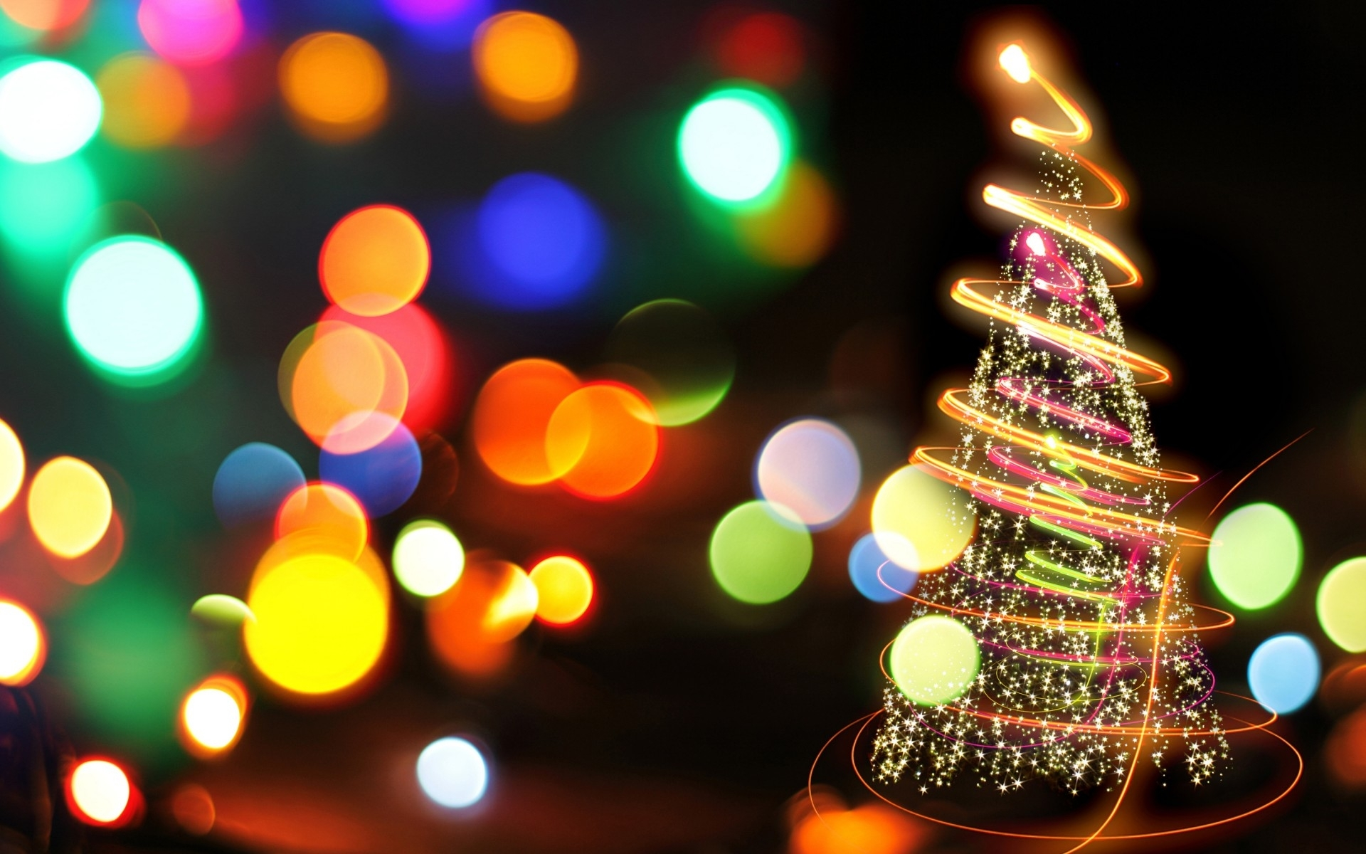 10 new colorful christmas lights wallpaper full hd 1920×1080 for pc