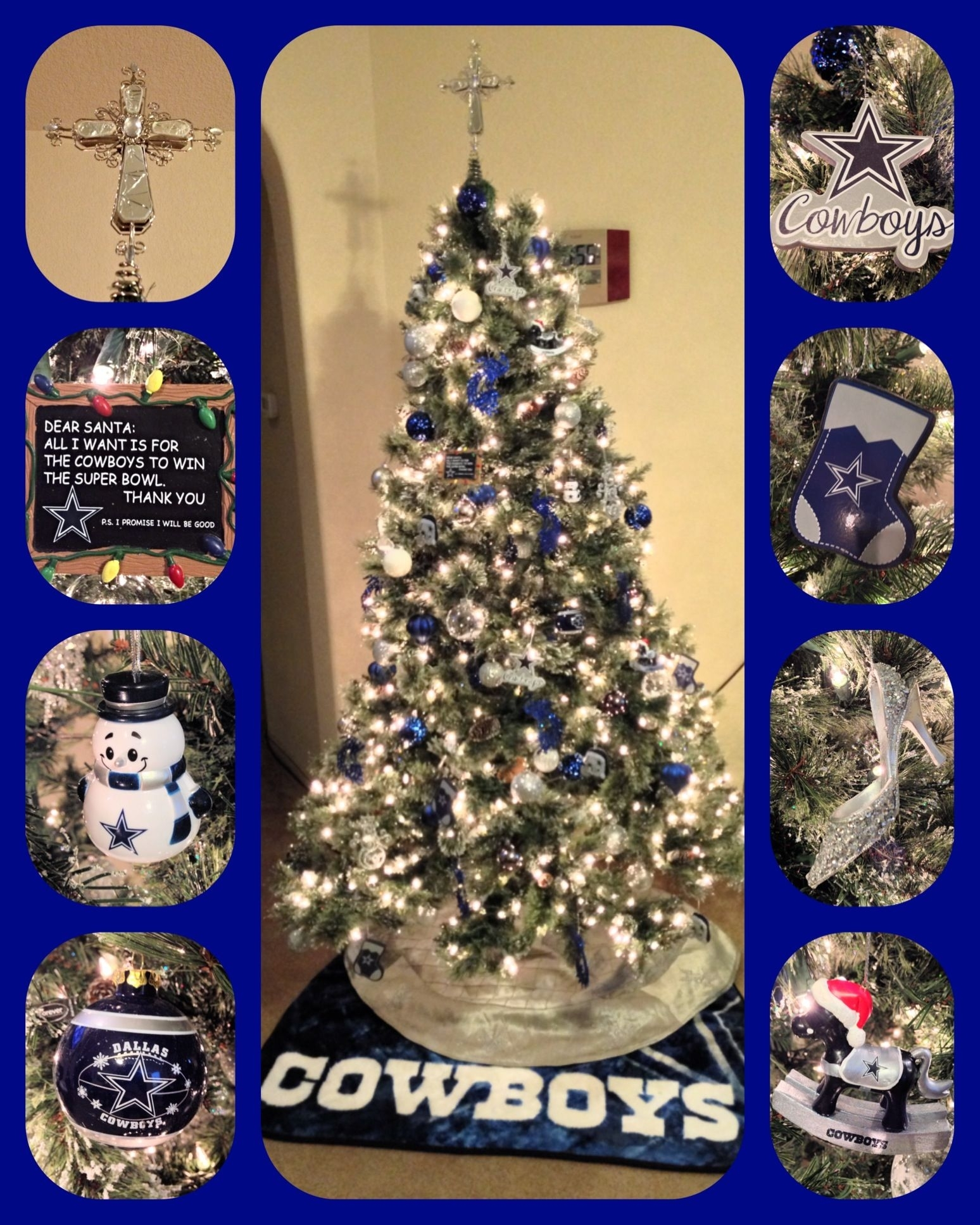our dallas cowboys christmas tree!!! | custom cakescake daddy