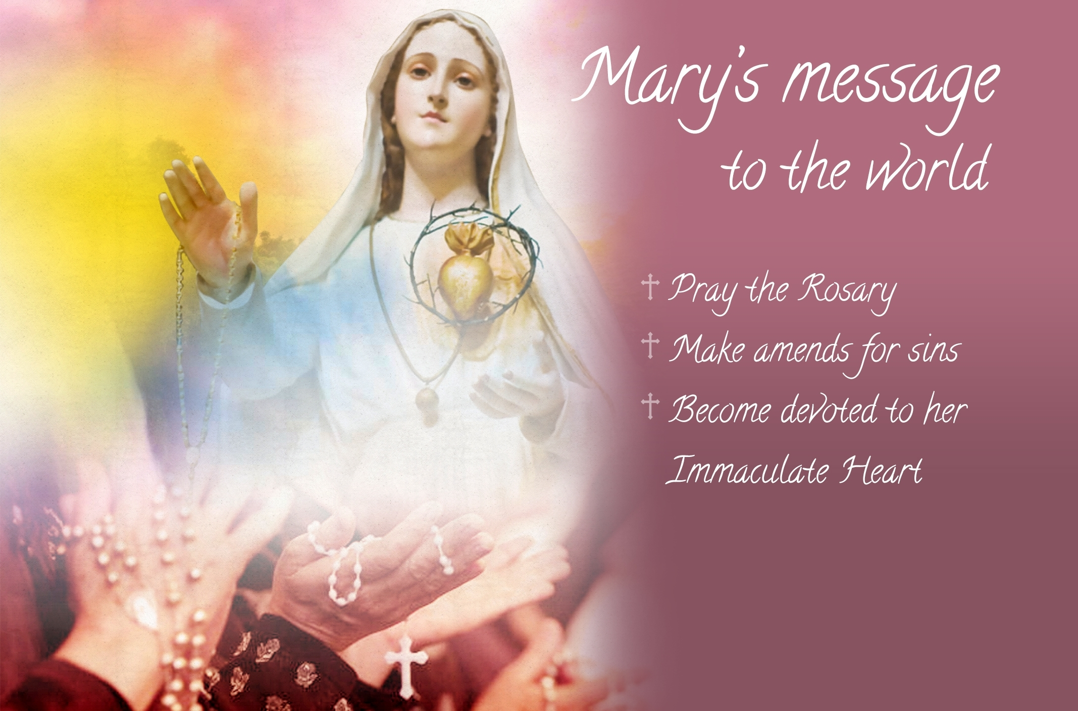 our lady of fatima desktop wallpaper - get your daily bread together