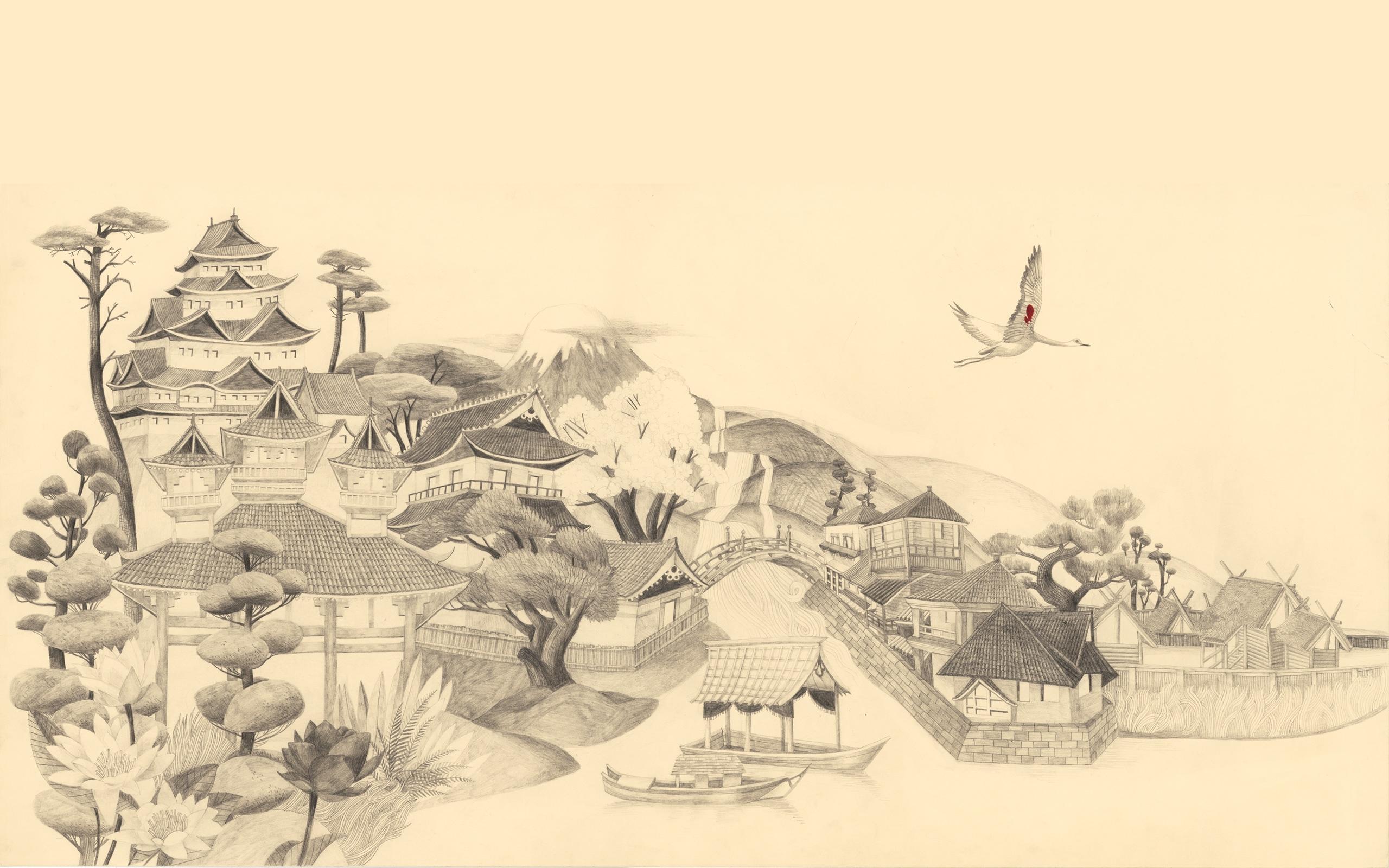 p.57, japanese art wallpapers, japanese art widescreen images