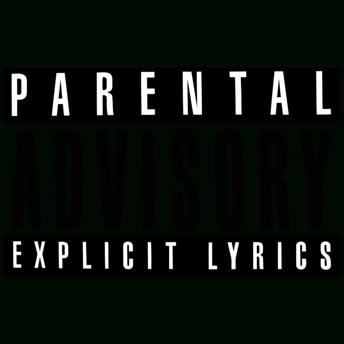 parental advisory explicit lyrics transparent png - stickpng