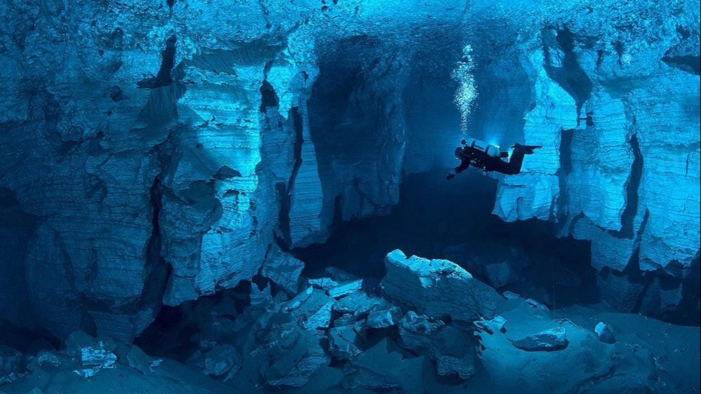 paysages grotte sous-marine russie papier peint | allwallpaper.in
