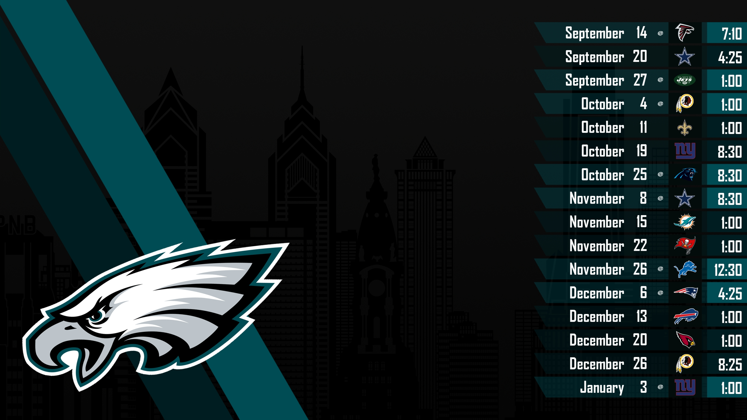 philadelphia eagles jersey schedule 2015