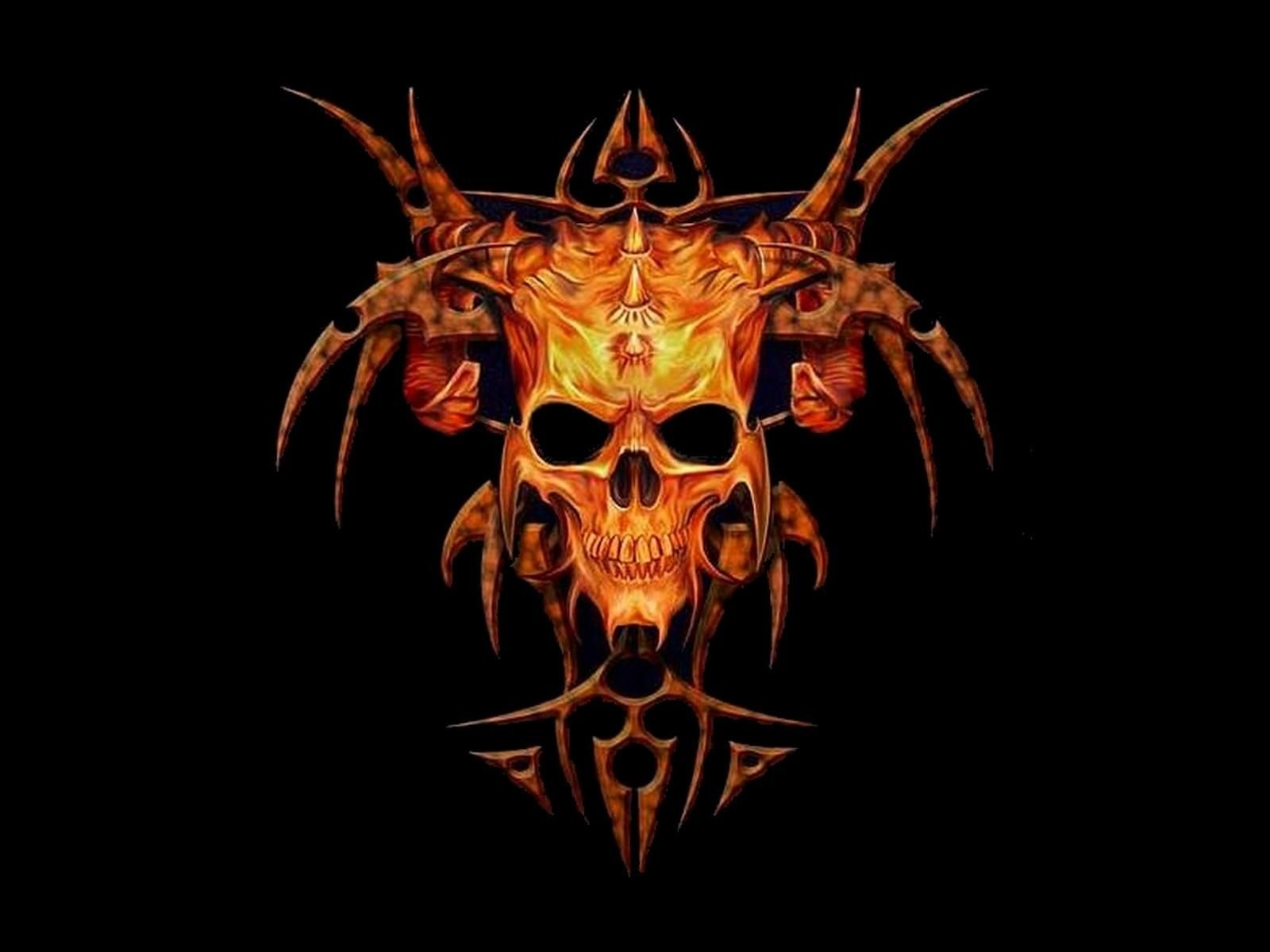 pics of skulls | skull free wallpaper with 1600x1200 resolution