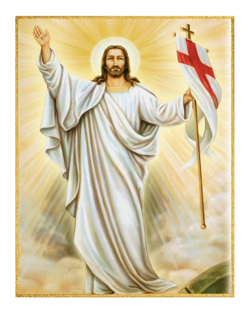 "picture on the fabric ""jesus is risen"" 11493 