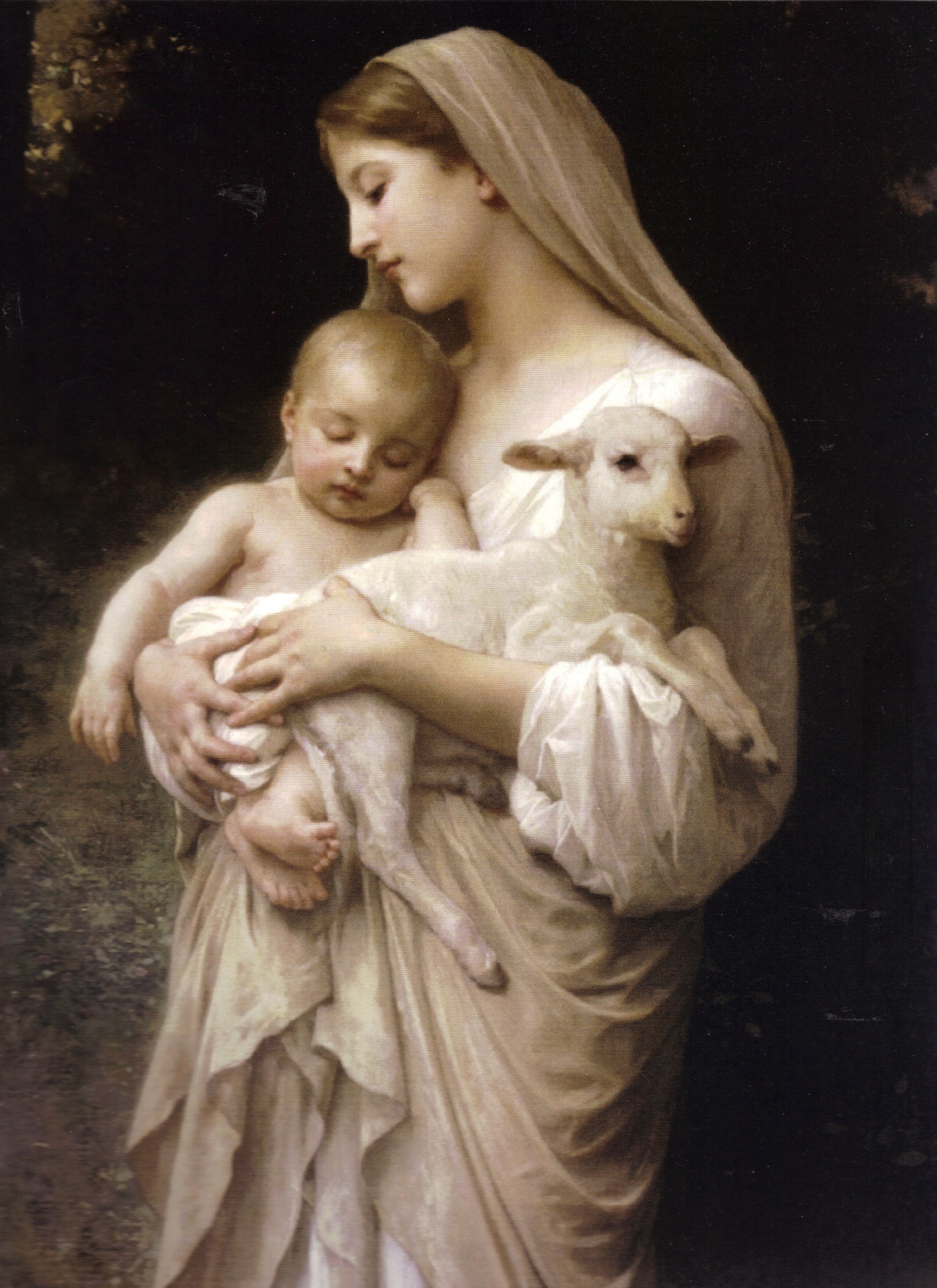 pictures of jesus |  virgin mary holding the baby jesus and a