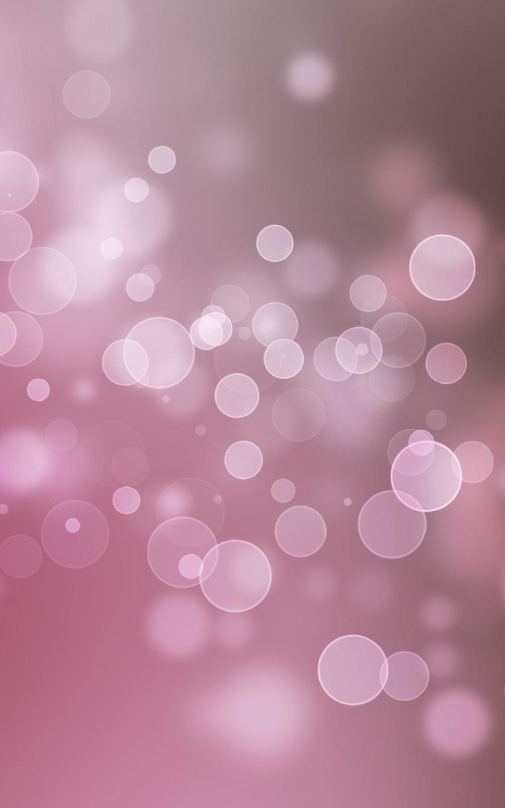pink bokeh circles android wallpaper free download