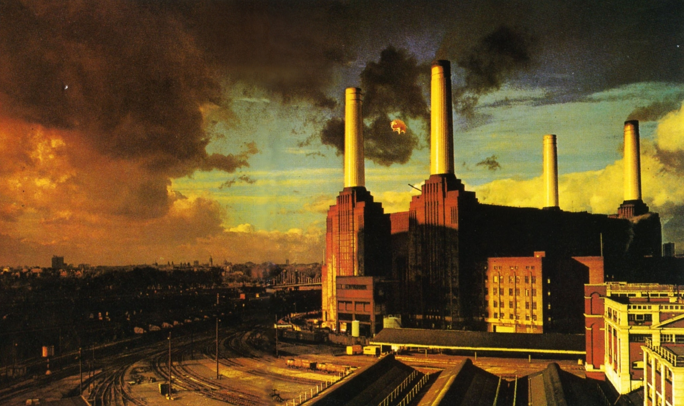 pink floyd theme pollution factory desktop wallpaper