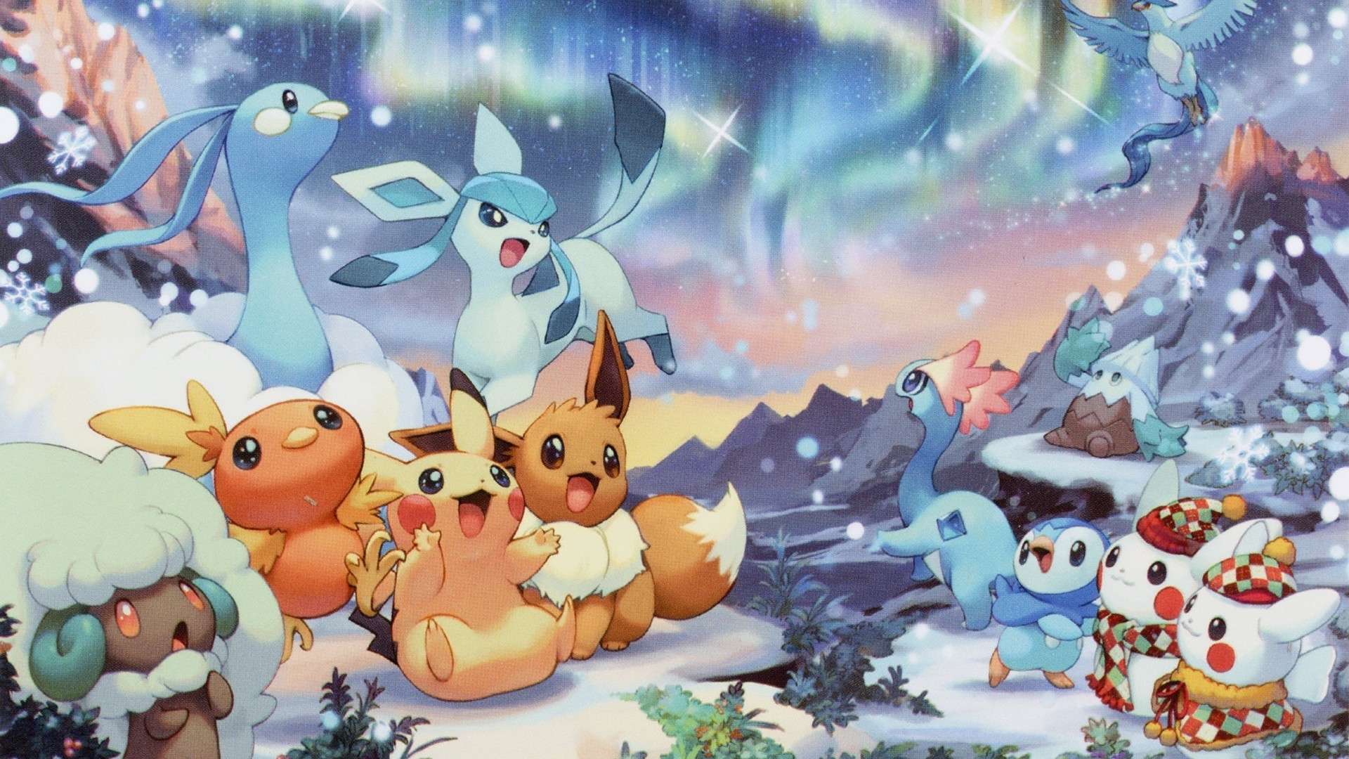 pokemon christmas wallpaper ·①