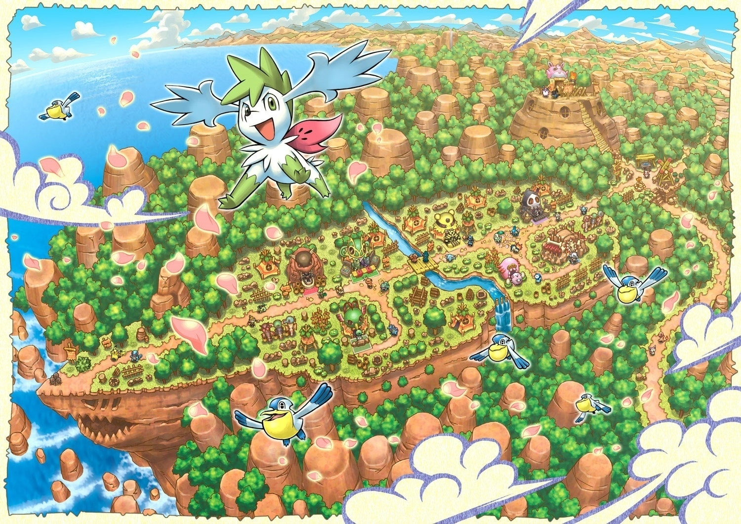 pokemon mystery dungeon images explore of sky-shaymin hd wallpaper