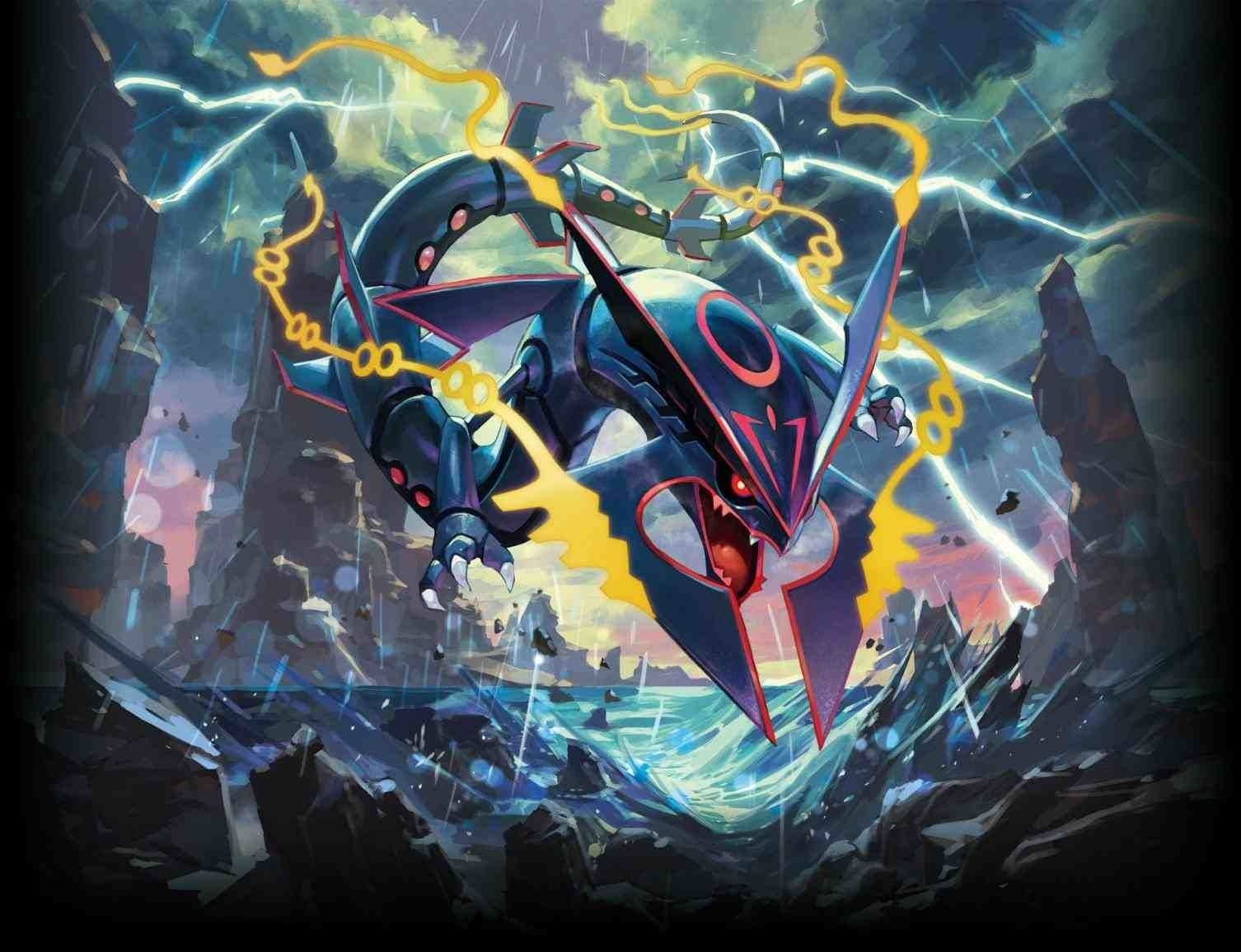 pokemon shiny mega rayquaza wallpaper | ♪pokemon!♪ | pinterest
