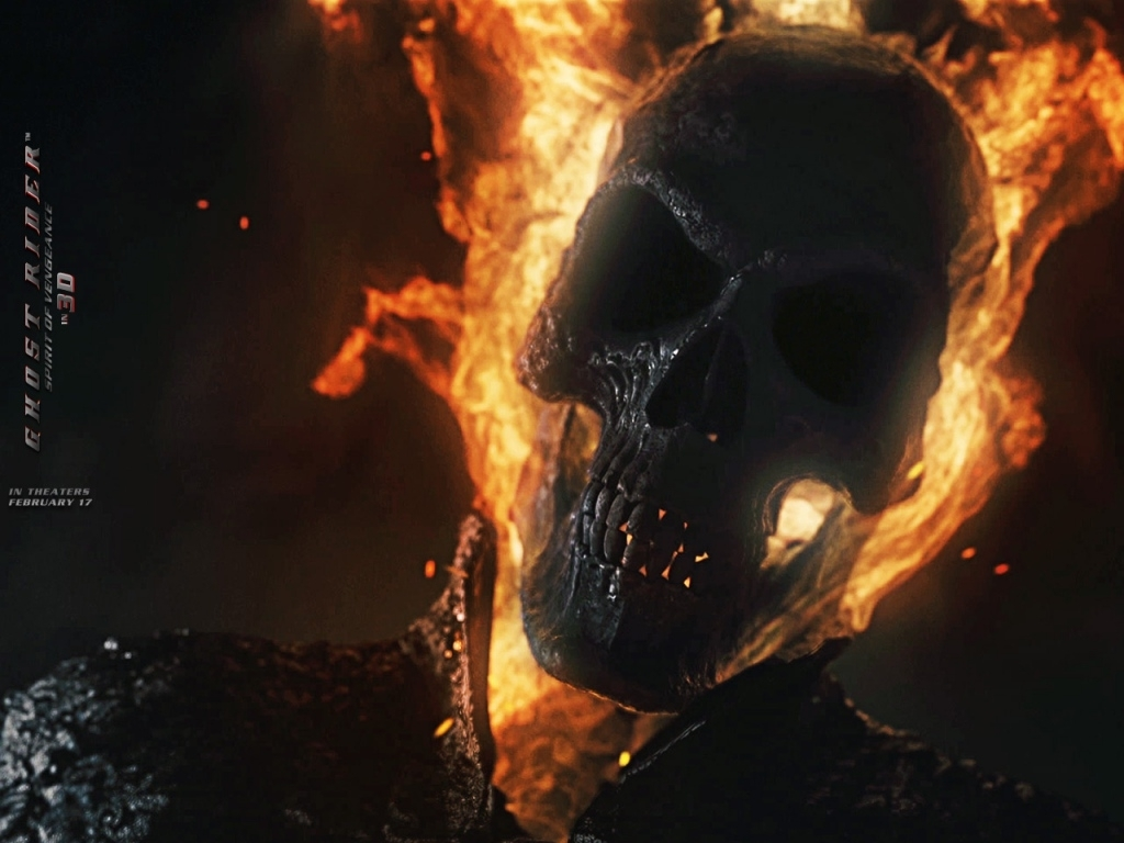 poster rezolutie mare ghost rider: spirit of vengeance 3d (2011