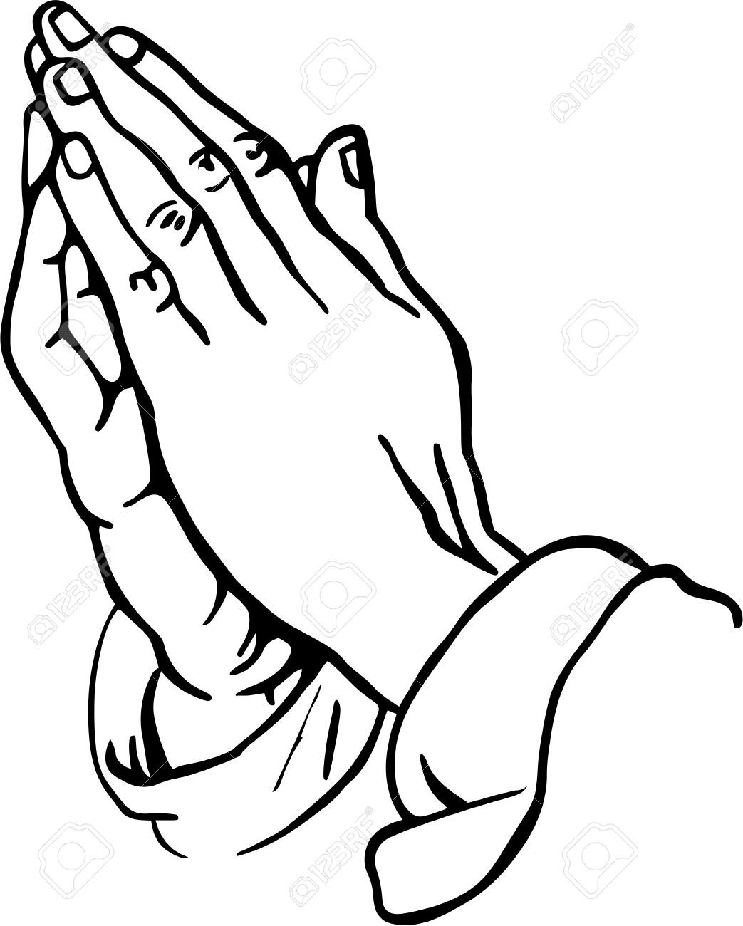 praying hands clipart stock photo, picture and royalty free image