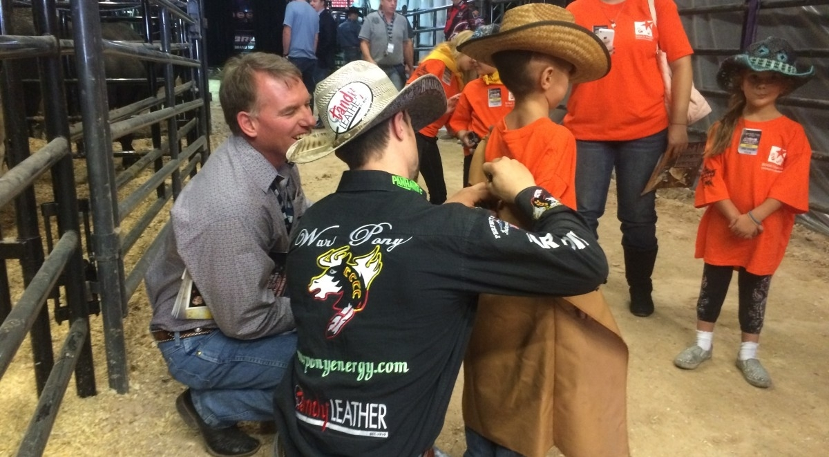 professional bull riders, inc., partners with charity