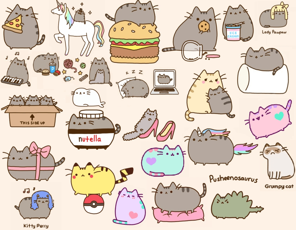 pusheen the cat wallpapers - wallpaper cave