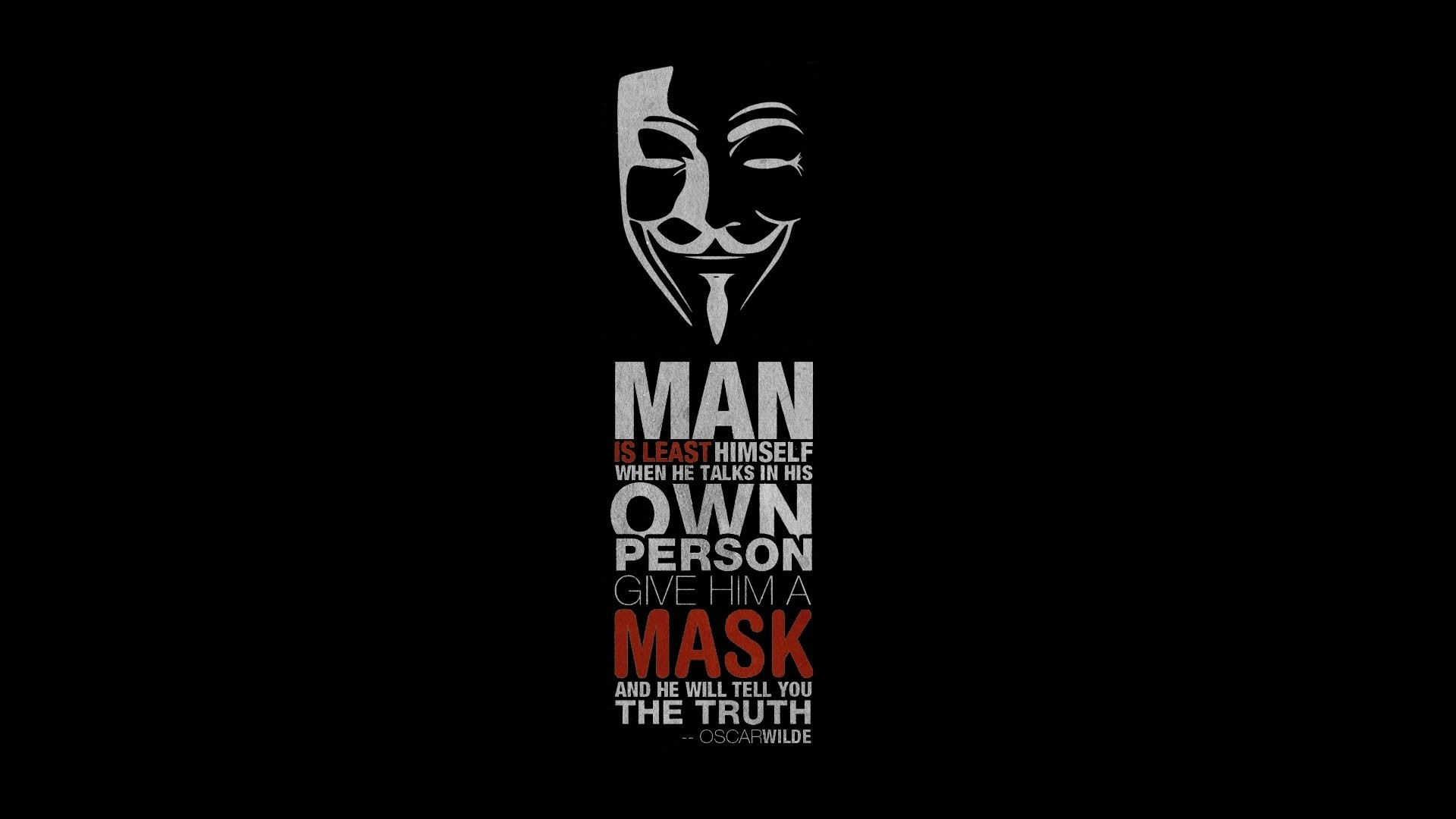 quote, oscar wilde, v for vendetta wallpapers hd / desktop and