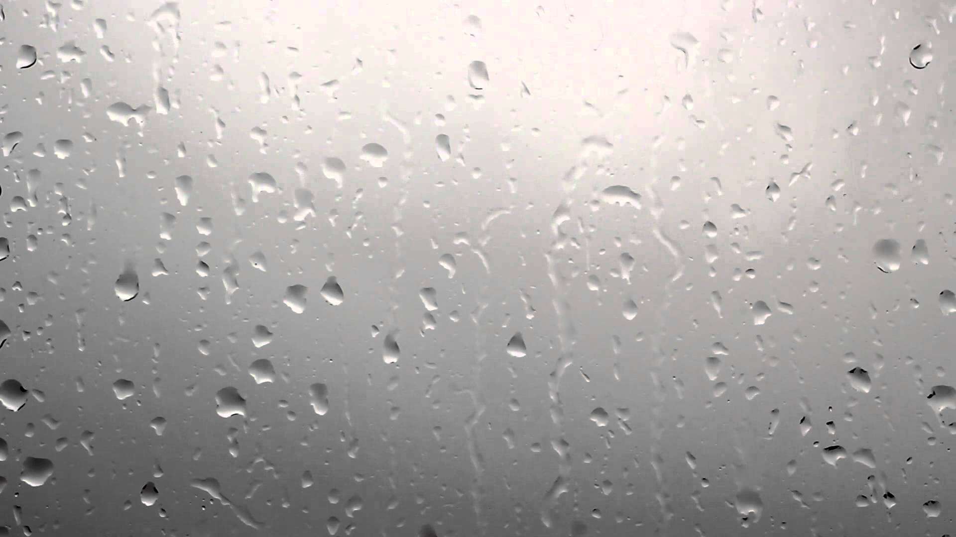 rainy window, raindrops on window dark clouds background - free