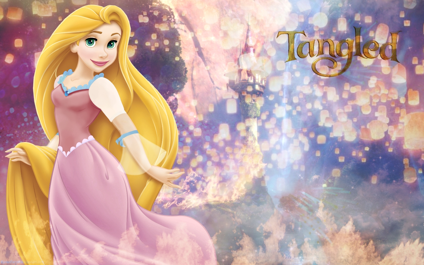 rapunzel's tower - disney princess wallpaper (33104742) - fanpop