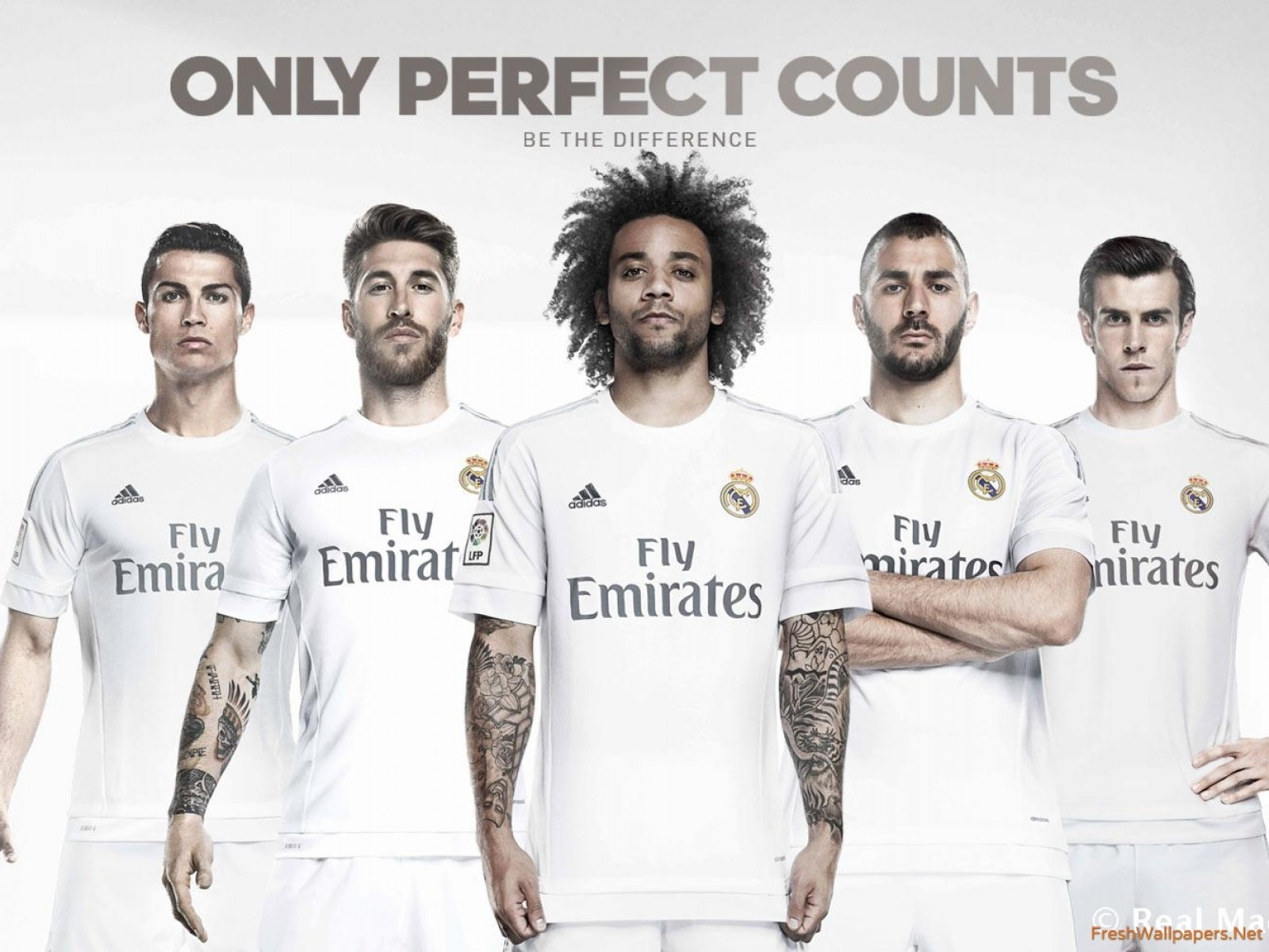 real madrid cf 2015-2016 kit wallpapers | freshwallpapers