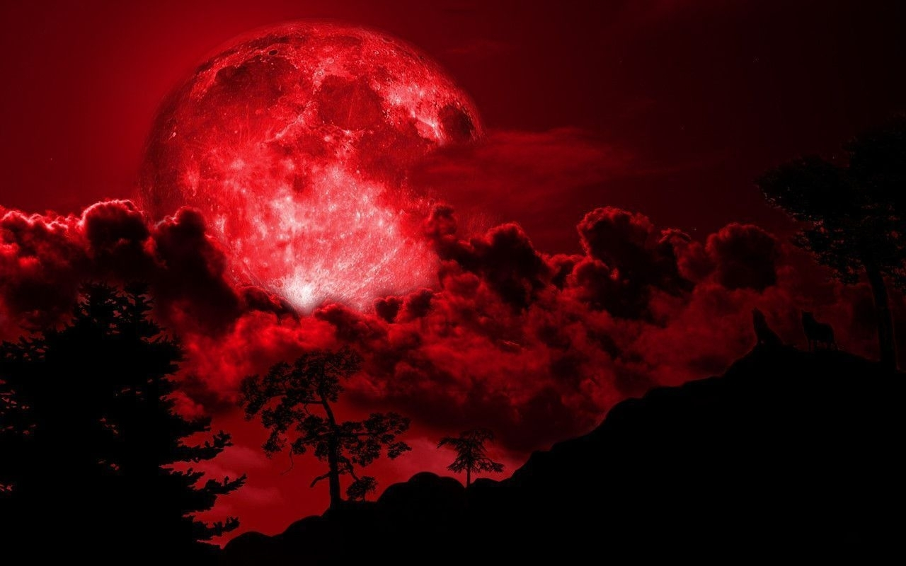red full moon wallpaper - 2018 wallpaper hd | wallpaper, red moon