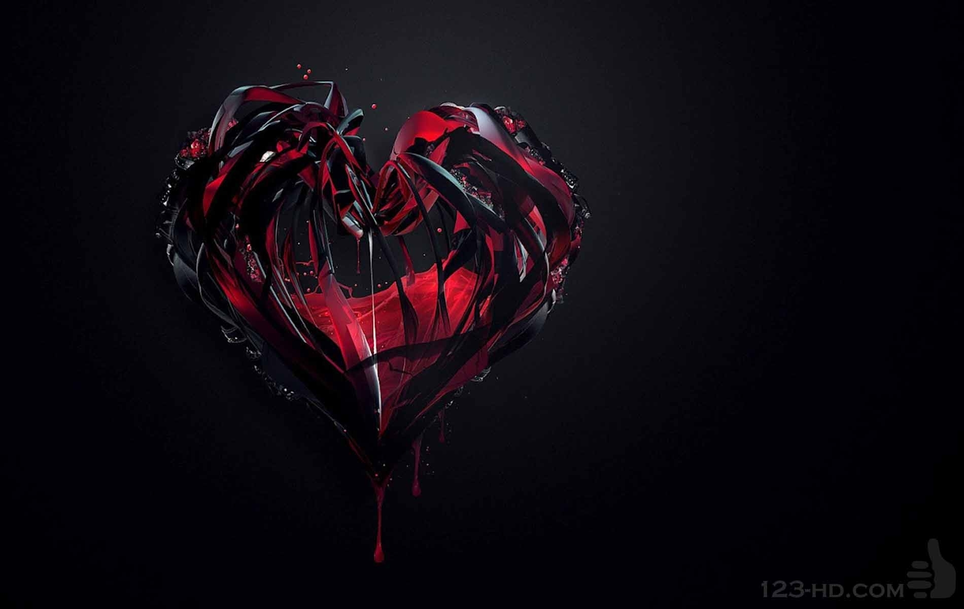red heart black backgrounds - wallpaper cave