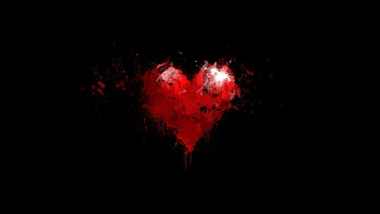 10 Latest Red Heart Black Background Full Hd 1080p For Pc Desktop