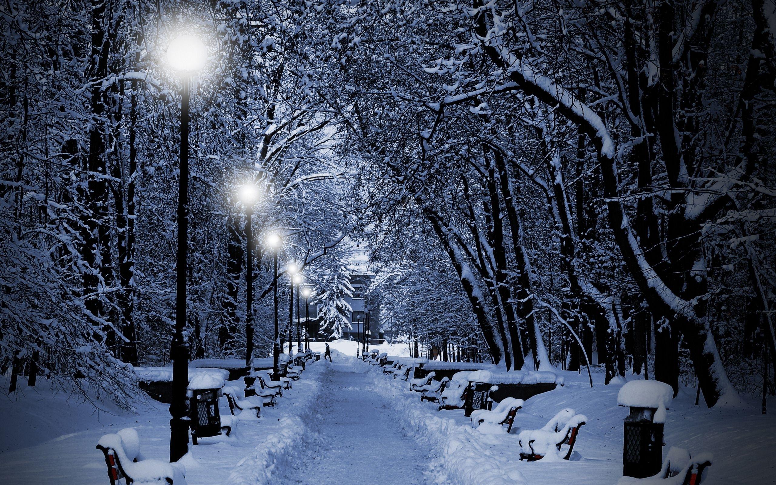 romantic winter night wallpapers widescreen » outdoors wallpaper 1080p