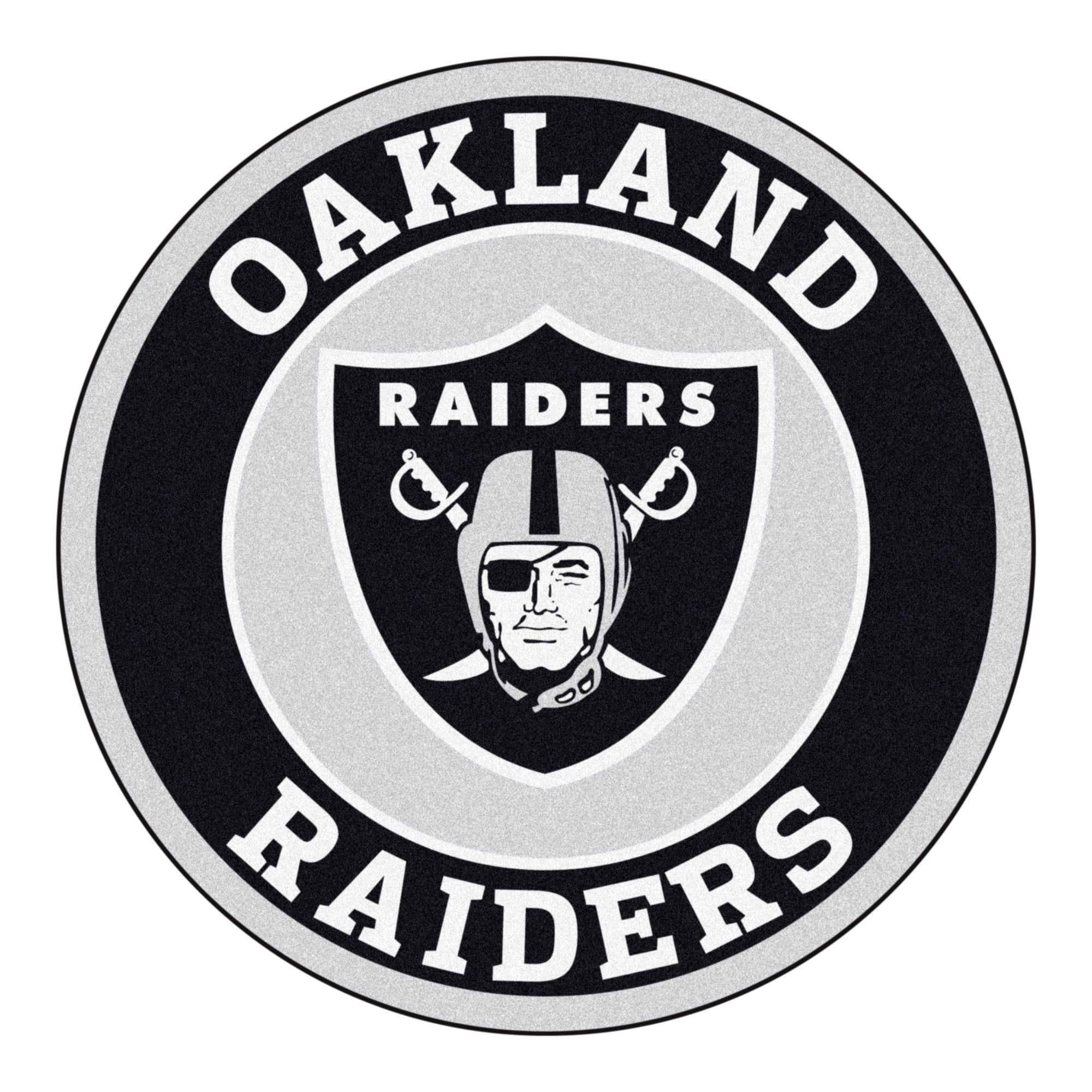 roundel mat - oakland raiders | raiders, raider nation and okland