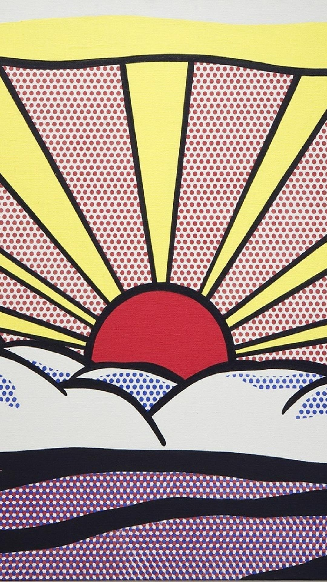 roy lichtenstein artwork paintings pop art sunrise wallpaper | (87626)