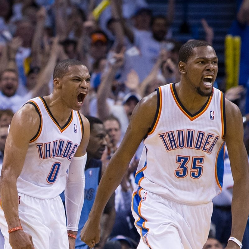 10 Best Russell Westbrook And Kevin Durant Wallpaper FULL HD 1920×1080 For PC Desktop 2020 free download russell westbrook kevin durant combine for 63 pts to help thunder 800x800