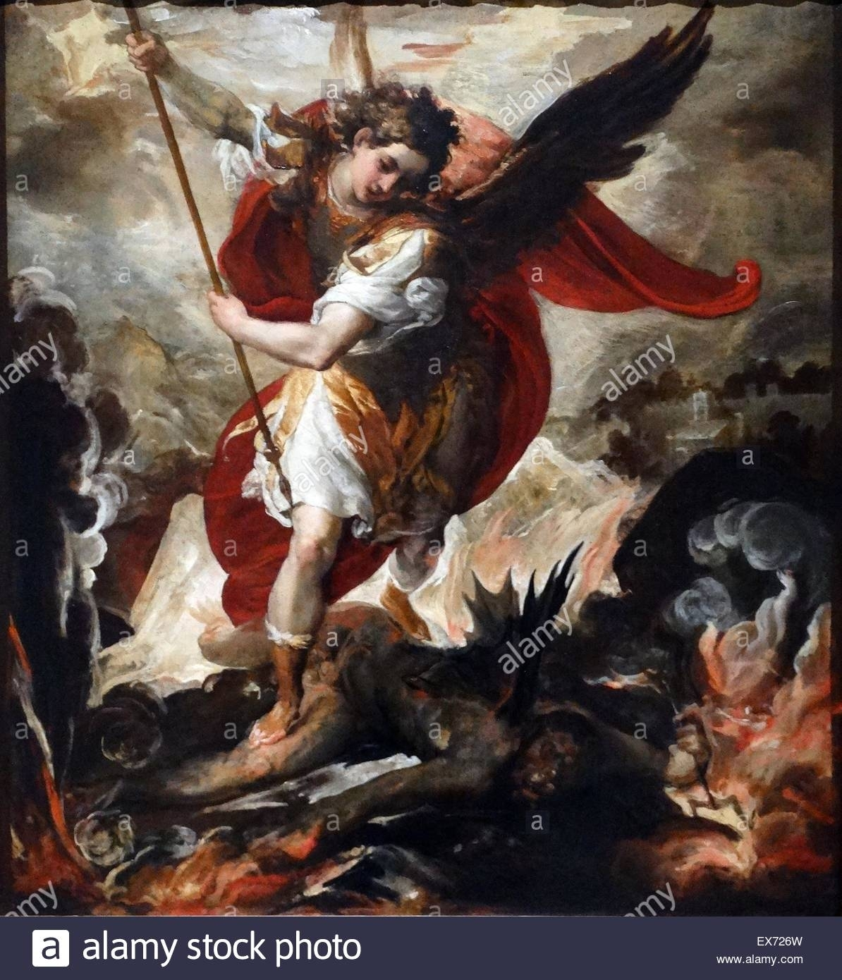 saint michael the archangel defeats lucifer, 1656 francesco maffei
