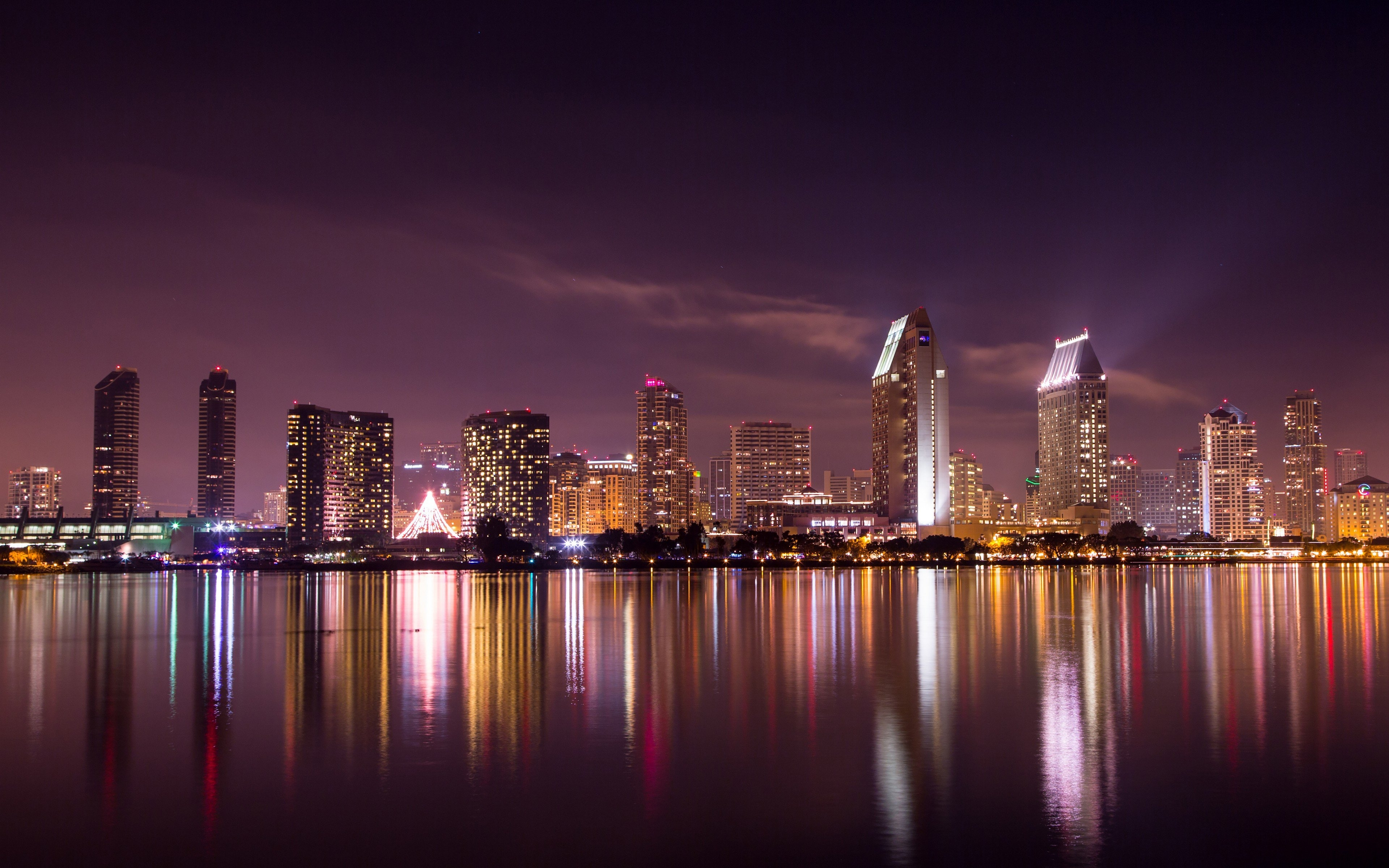 san diego skyline, hd world, 4k wallpapers, images, backgrounds