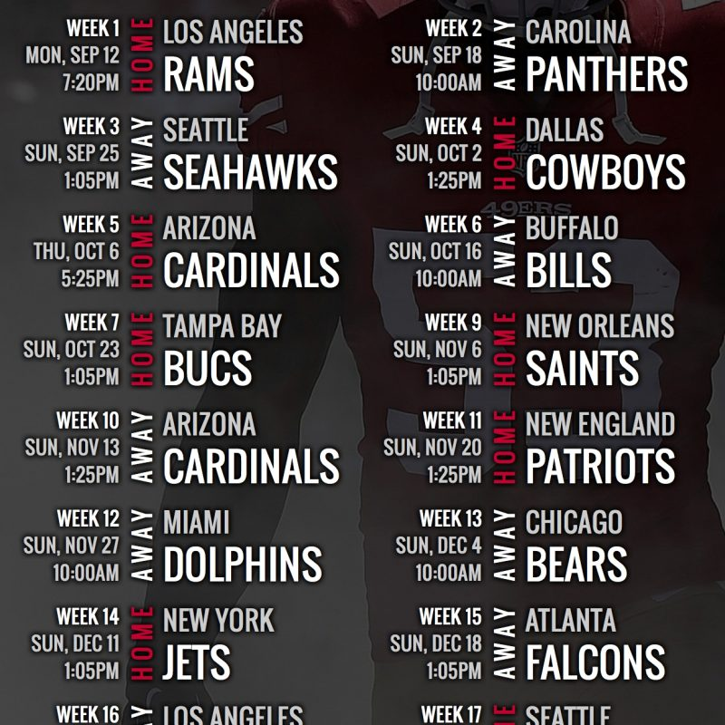 10 New 49Ers 2017 Schedule Wallpaper FULL HD 1920×1080 For PC Background 2018 free download san francisco 49ers 2016 schedule wallpaper for your phone san 1 800x800