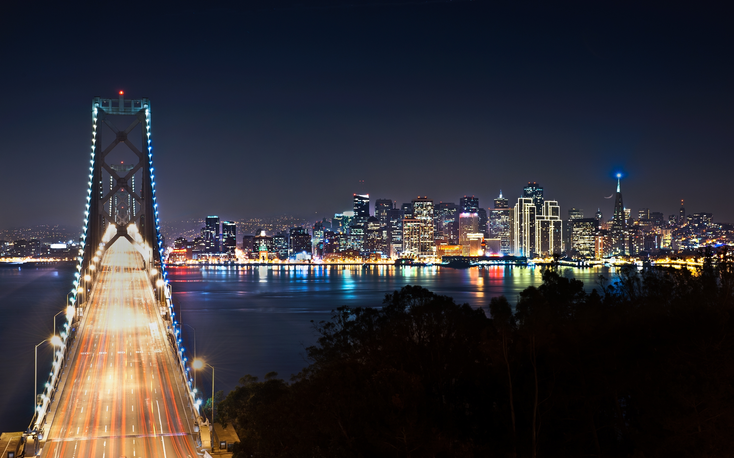 san francisco at night wallpapers | hd wallpapers | id #12240