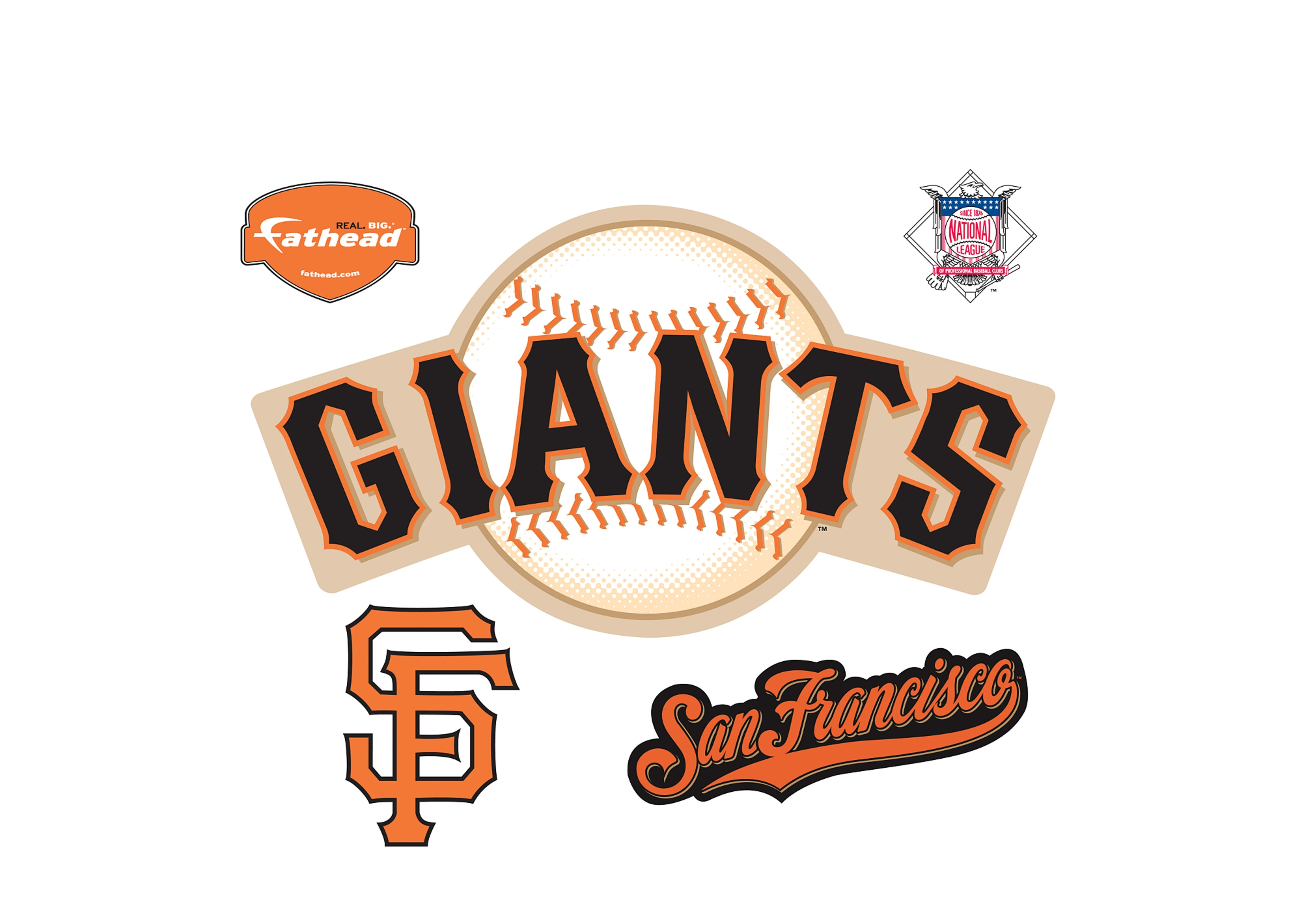 san francisco giants logo wall decal | shop fathead® for san