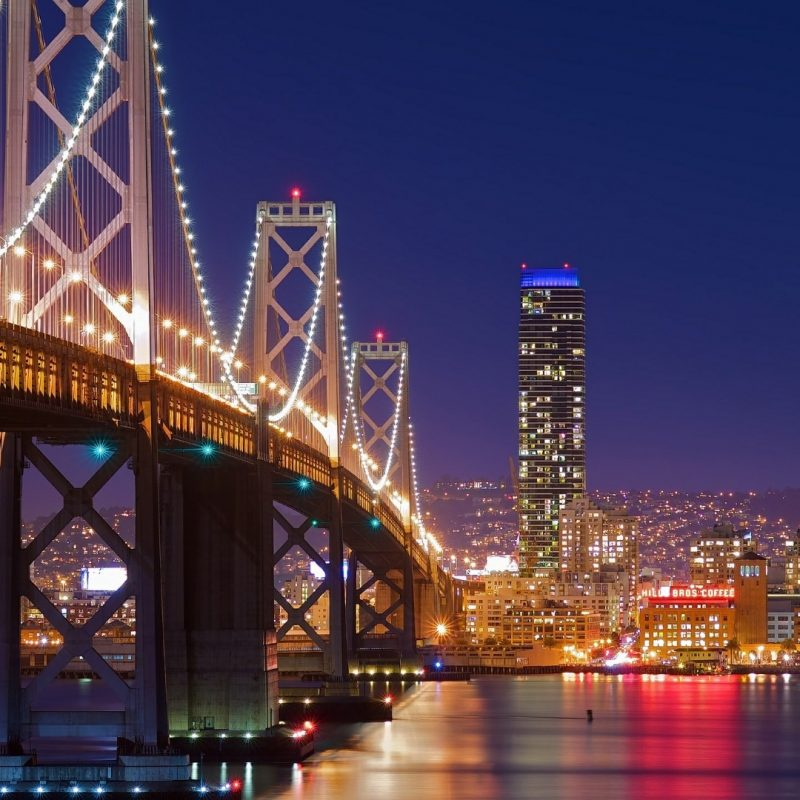 10 Latest San Francisco At Night Wallpaper FULL HD 1080p For PC Desktop 2018 free download san francisco oakland bay bridge at night wallpaper wallpaper 1 800x800