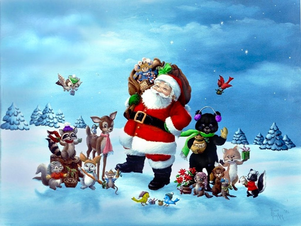 santa christmas background 3d wallpaper: desktop hd wallpaper