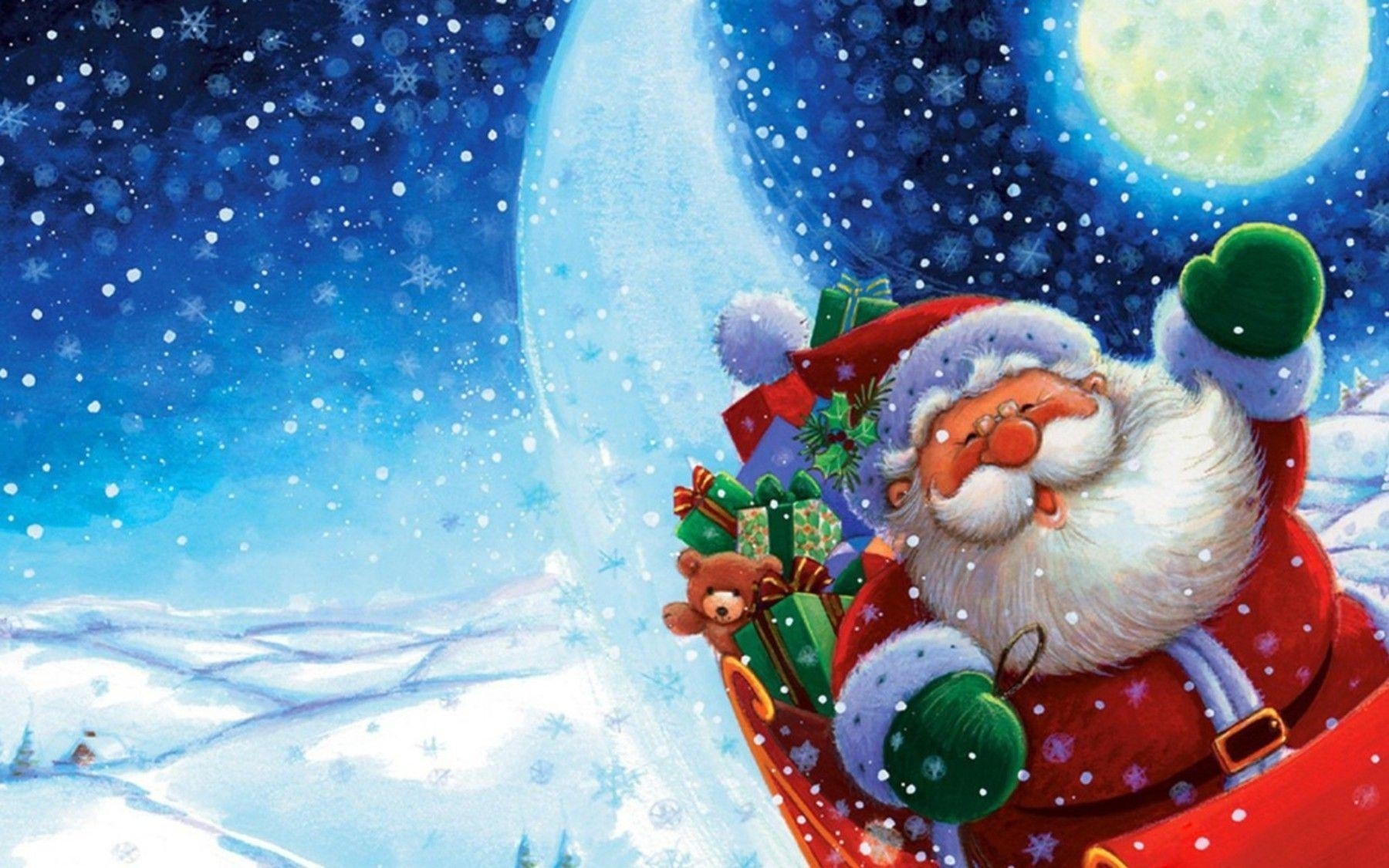 santa claus wallpapers free - wallpaper cave