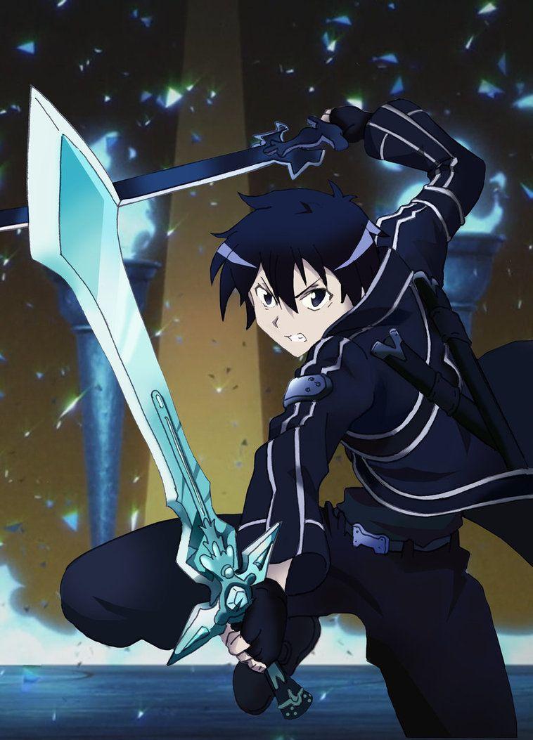 sao - sword art online - kirito [dual wield]miizu-kun | anime