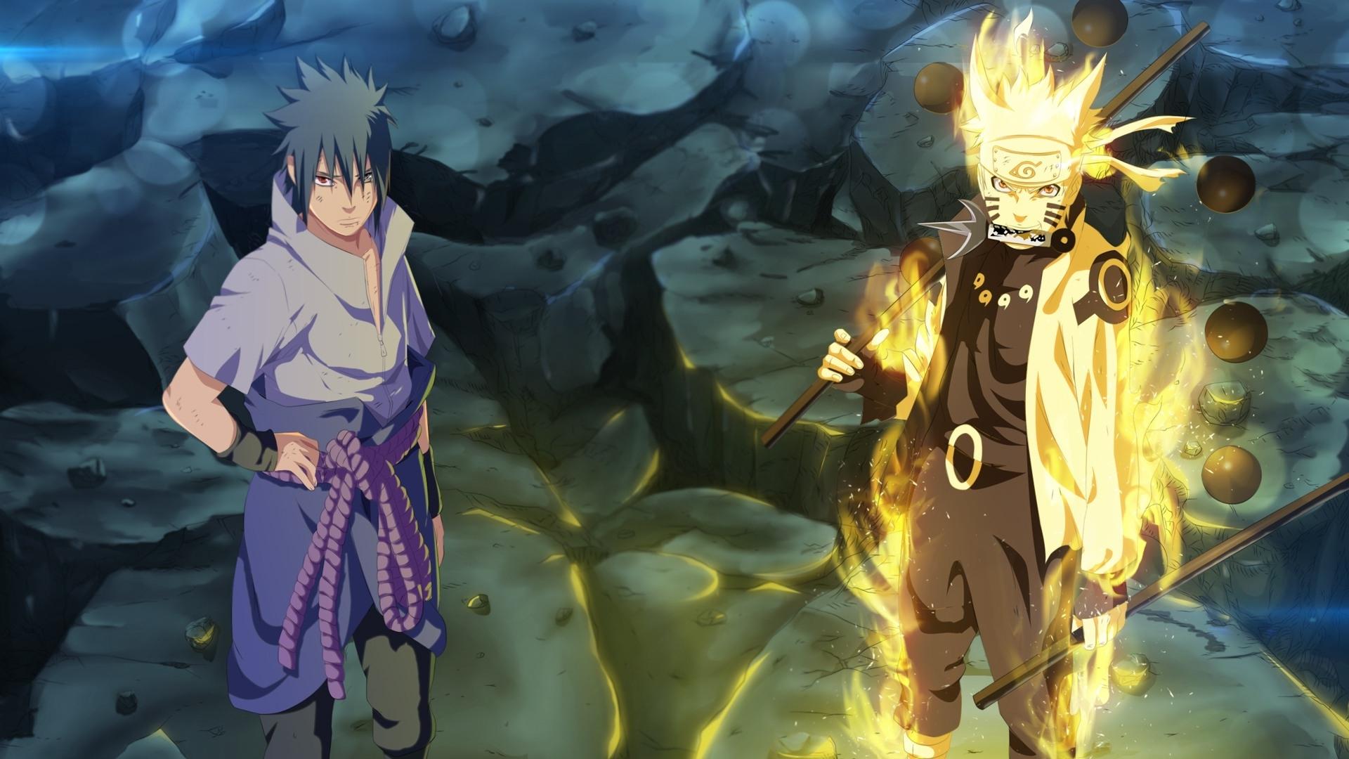 sasuke and naruto six path sage mode wallpaper #9616