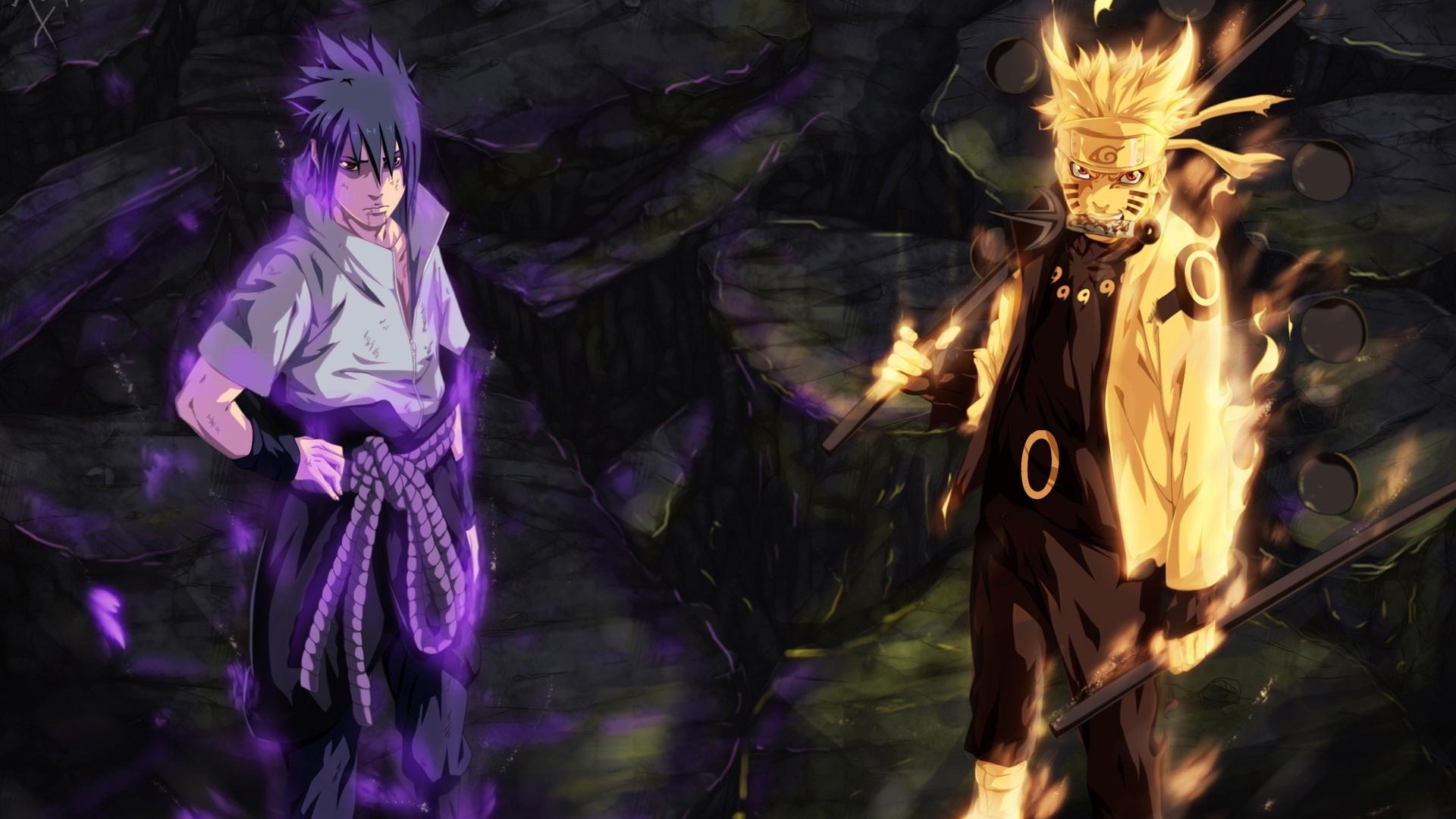 sasuke and naruto six path sage wallpaper #9535