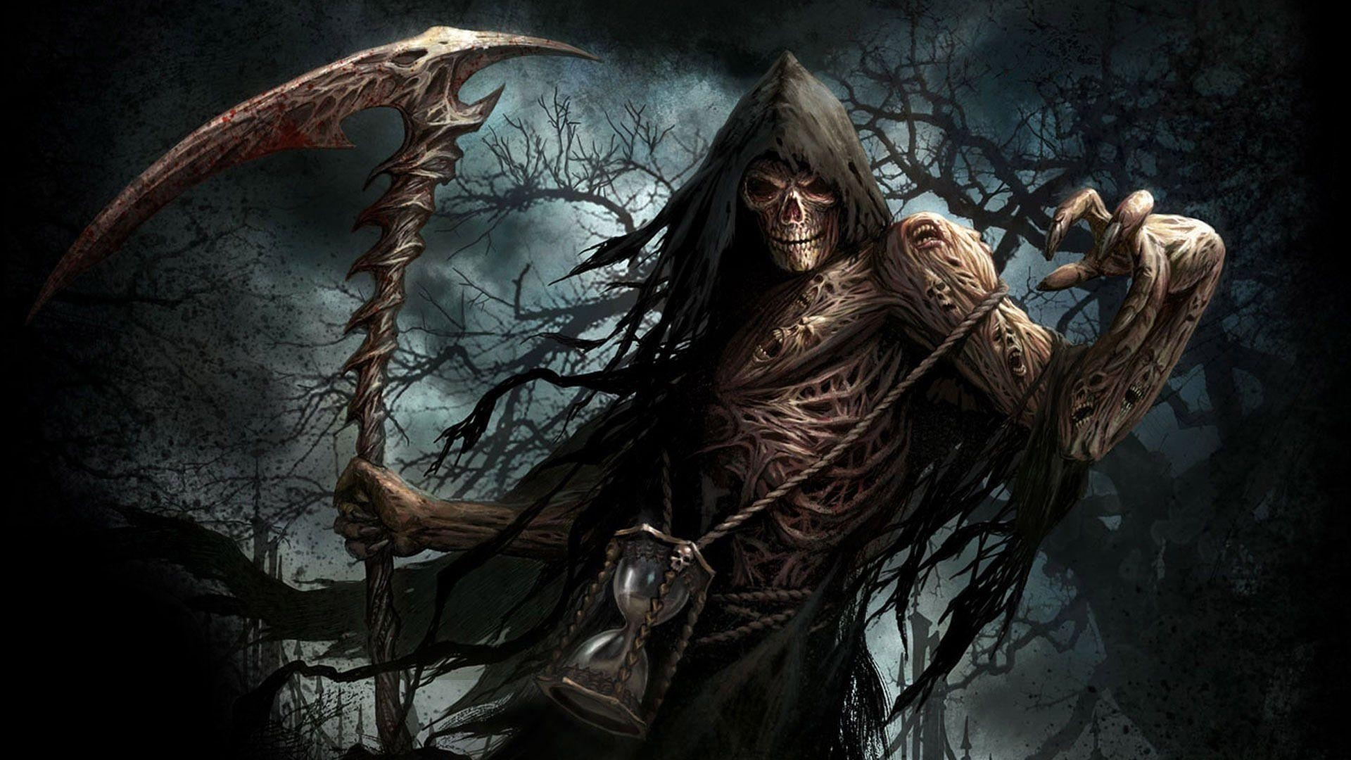 scary grim reaper hd desktop wallpaper : widescreen : high