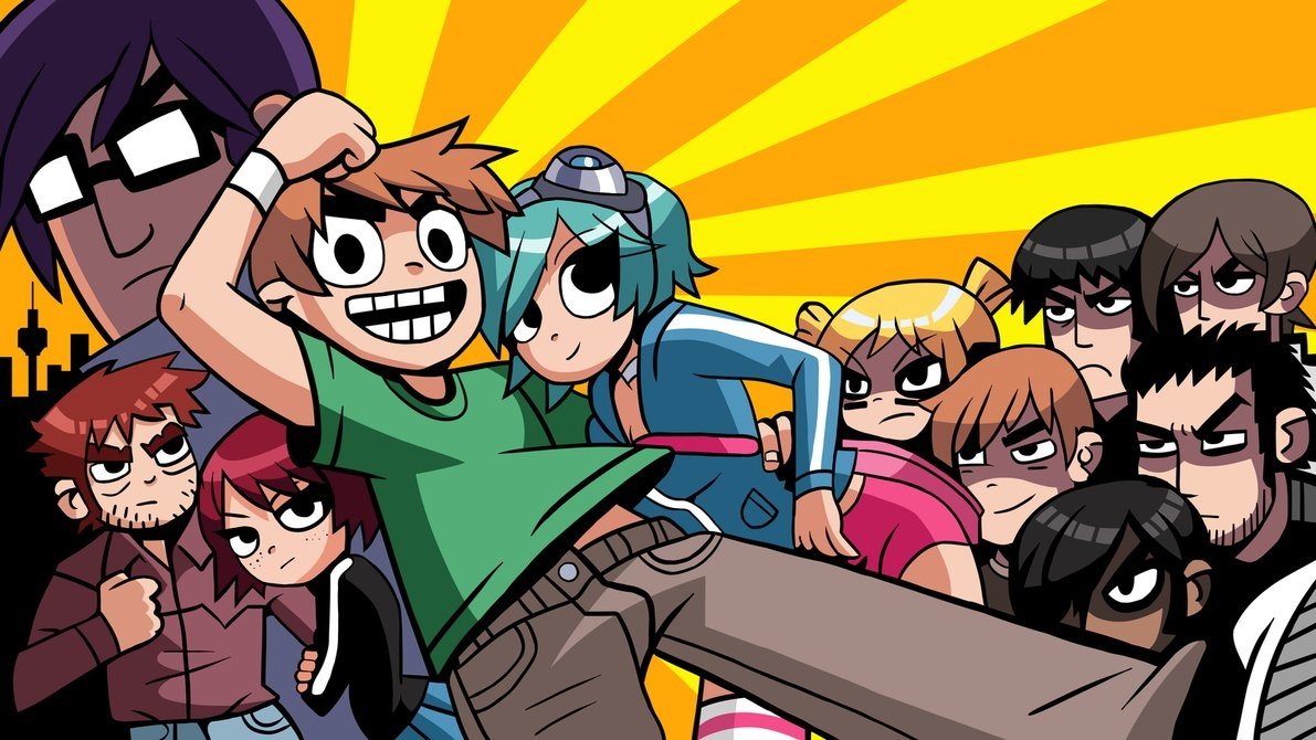 scott pilgrim vs. the world - start screen hdcottommy on deviantart