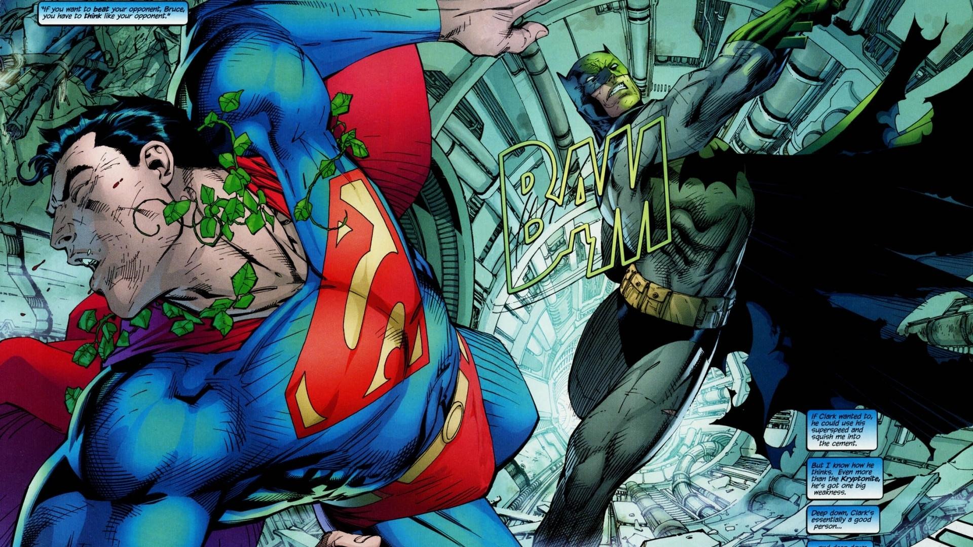 screenheaven: batman dc comics jim lee superman superheroes desktop